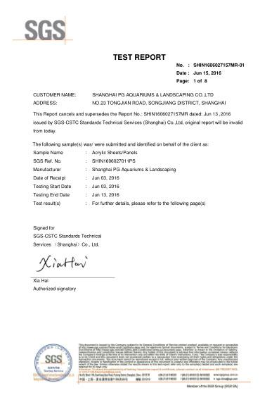 SGS informe de prueba